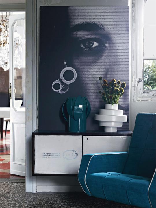 Синий декор в дизайне