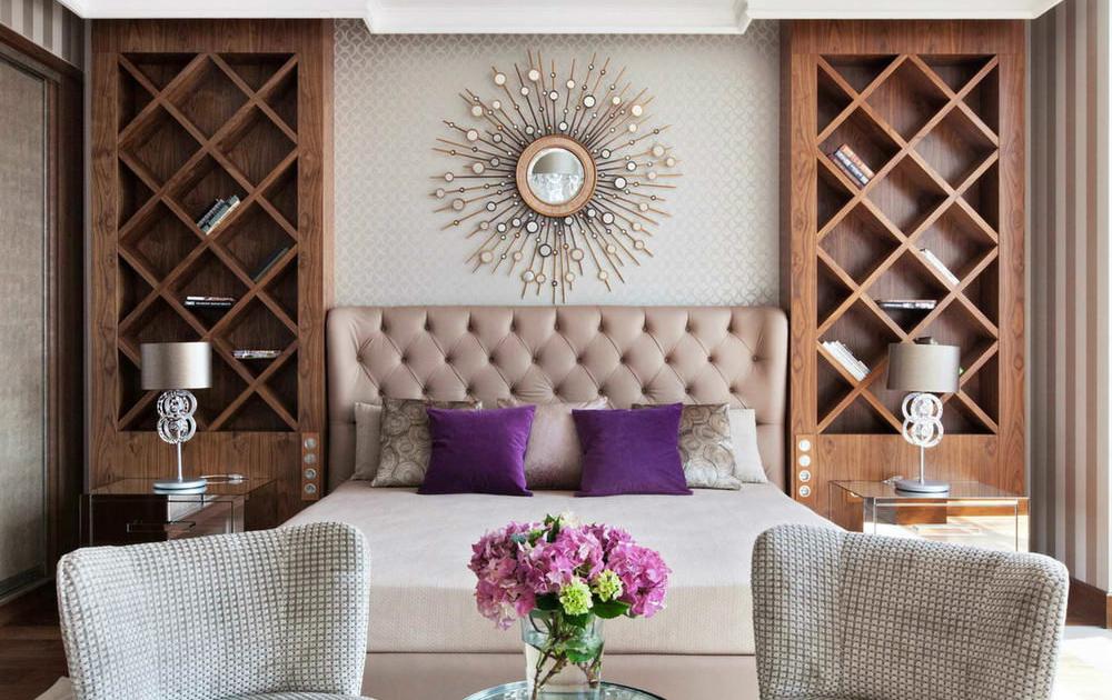 Деревянные панели в интерьере спальни