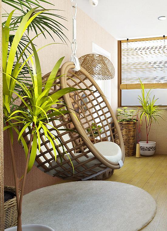Эко-стиль в интерьере балкона