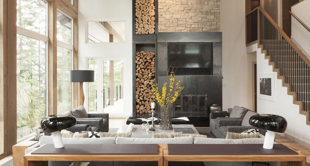 Эко-стиль в интерьере гостиной