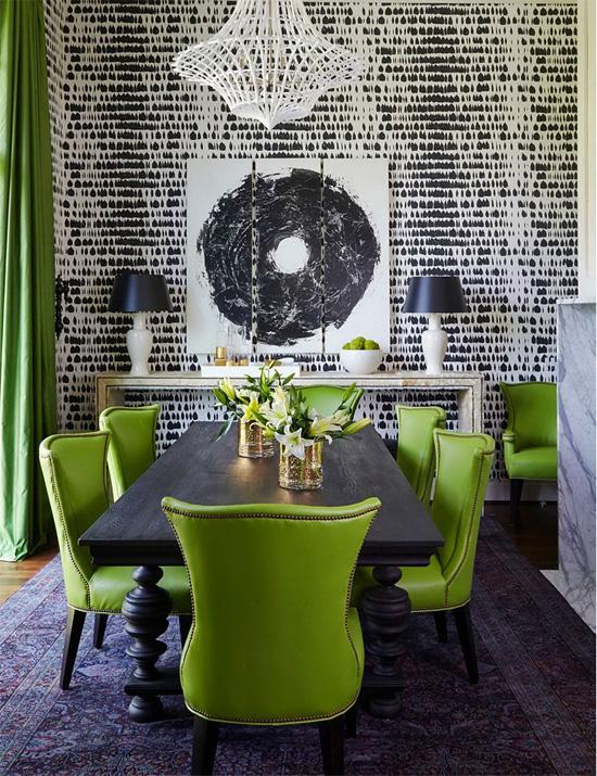 Зеленые стулья в дизайне