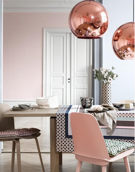 Дизайн стула в цвете Розовый кварц