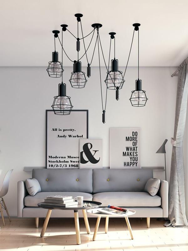 Потолочные светильники в скандинавском стиле