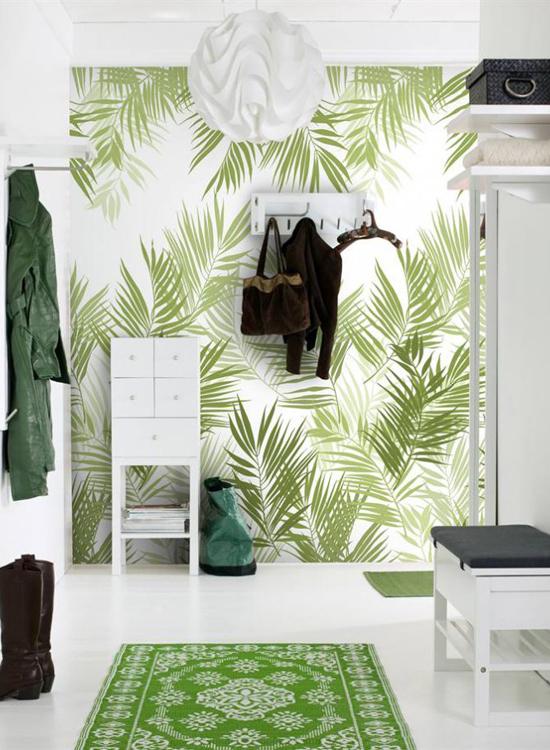 Тропический стиль в интерьере прихожей